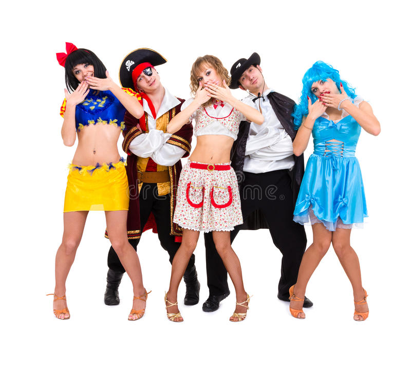 Download Dancers In Carnival Costumes Posing Stock Image - Image: 27909315
