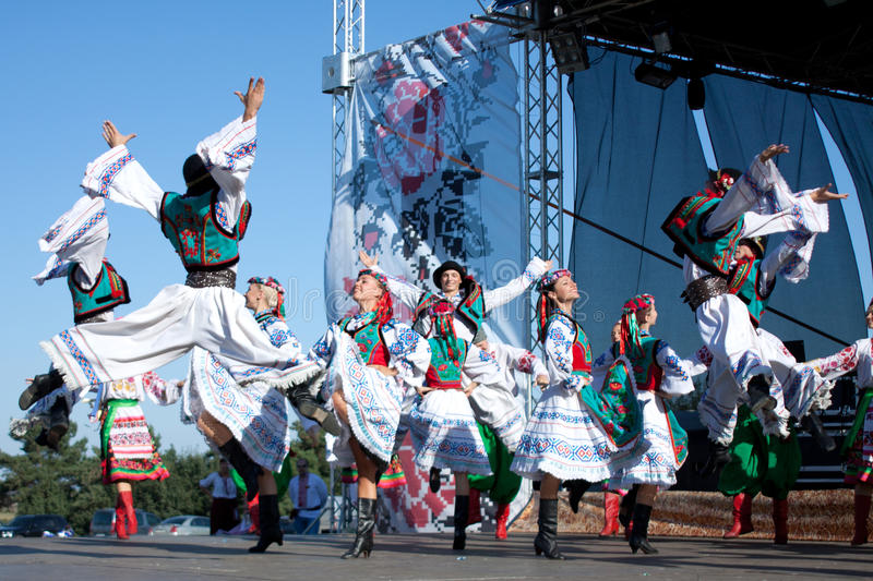 Dancers of Ensemble of Virsky are dancing royalty free stock images
