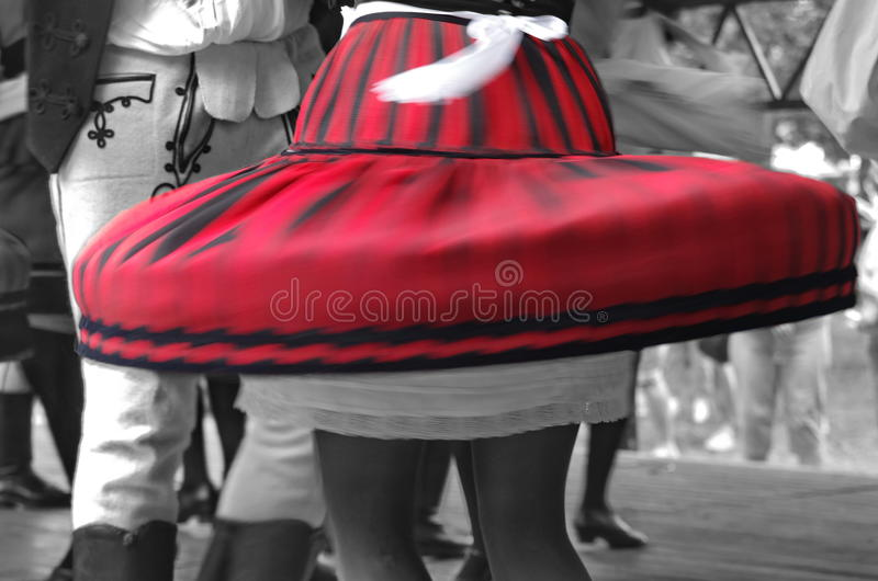 Dancers in motion. Sekler traditional dancers in motion royalty free stock image