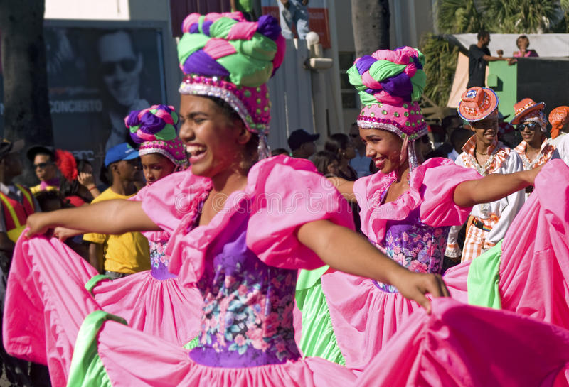 Dancers Parading at Carnival stock image
