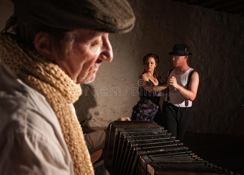 Download Dancers With Squeezebox Performer Stock Photo - Image: 27023060
