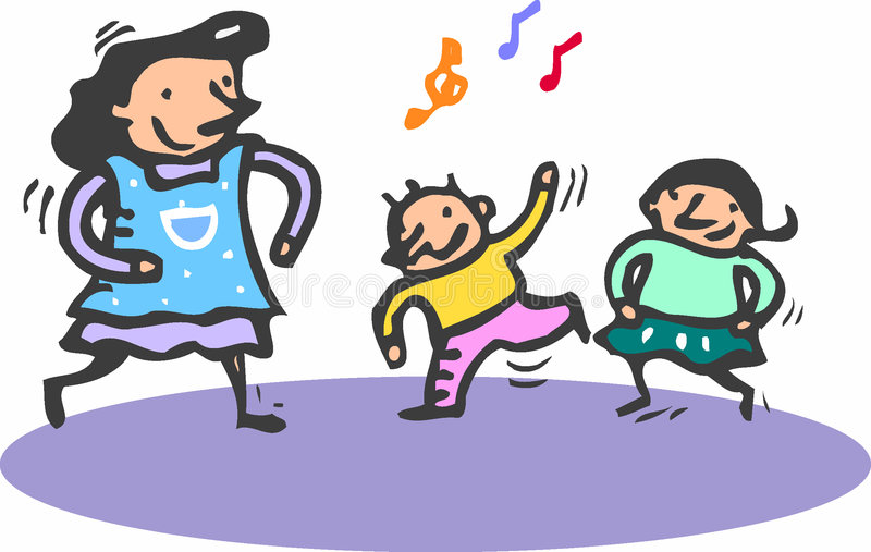Download Dancing stock vector. Image of infant, baby, funny, design - 1868719