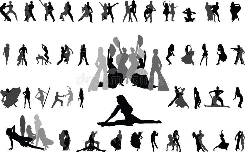 Dancing royalty free illustration