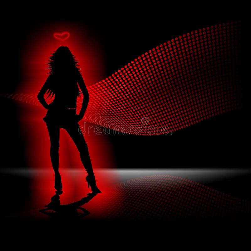 dancing stock de ilustración
