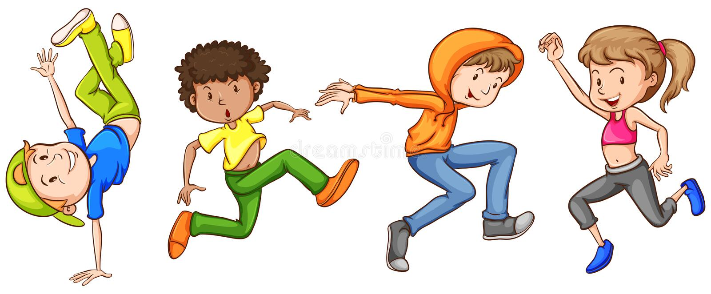 dancing vector illustratie