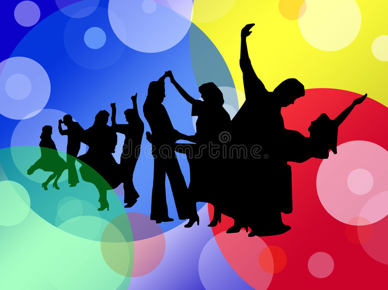 Dancing. People in additional format CorelDraw