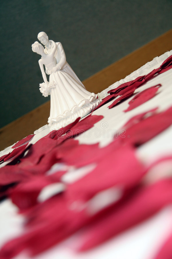Dancing. Cake Topper Dancing in Rose Petals royalty free stock photography