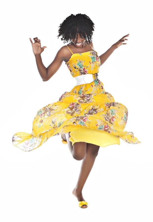 Dancing africano della donna fotografie stock libere da diritti