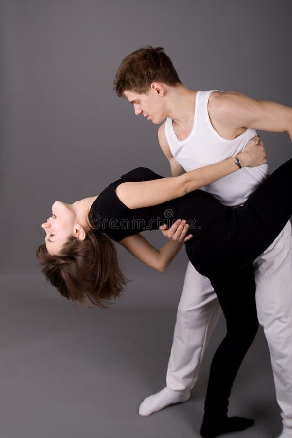 Dancing appassionato fotografie stock