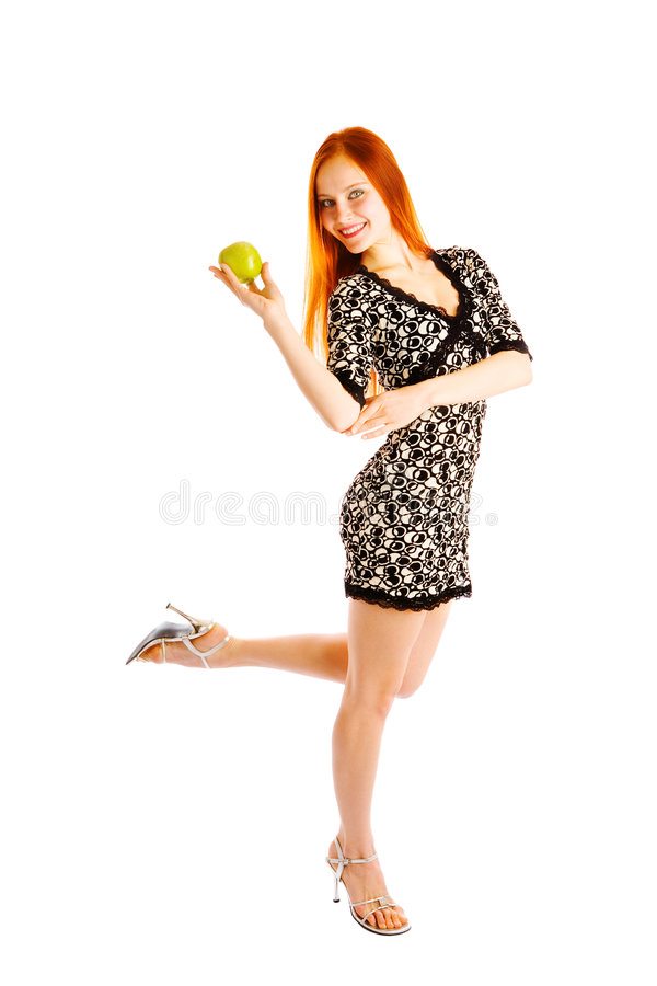 Download Dancing with apple stock image. Image of long, happiness - 7661421