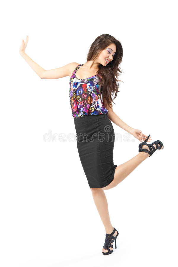 Dancing Asian Woman Stock Images