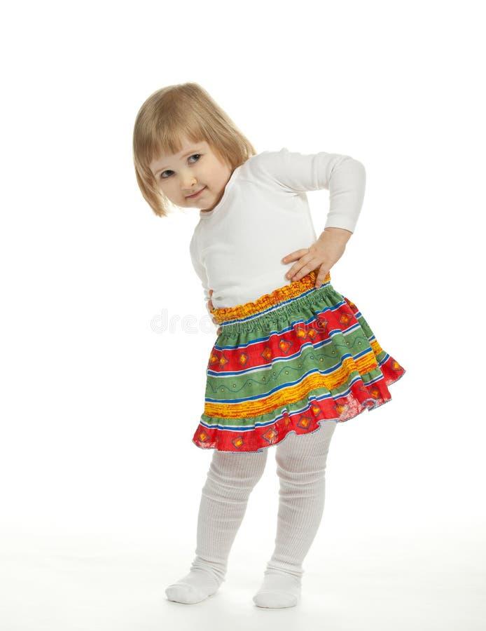 Dancing baby girl royalty free stock photos