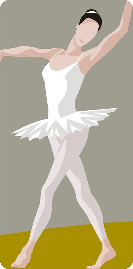 Dancing Ballerina Illustration stock photo