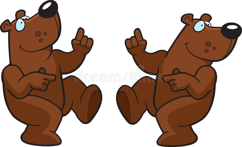 Dancing Bears vector illustration