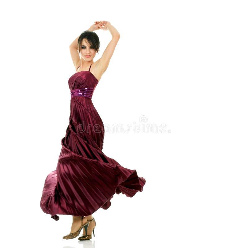 Dancing beautiful woman royalty free stock photos