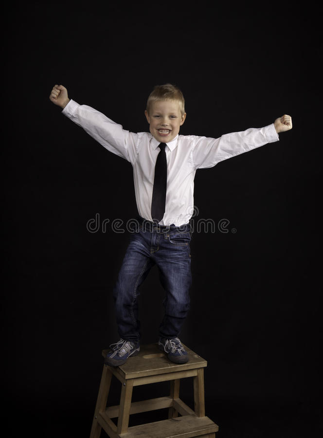 Download Dancing boy stock image. Image of shirt, emotion, years - 19248957