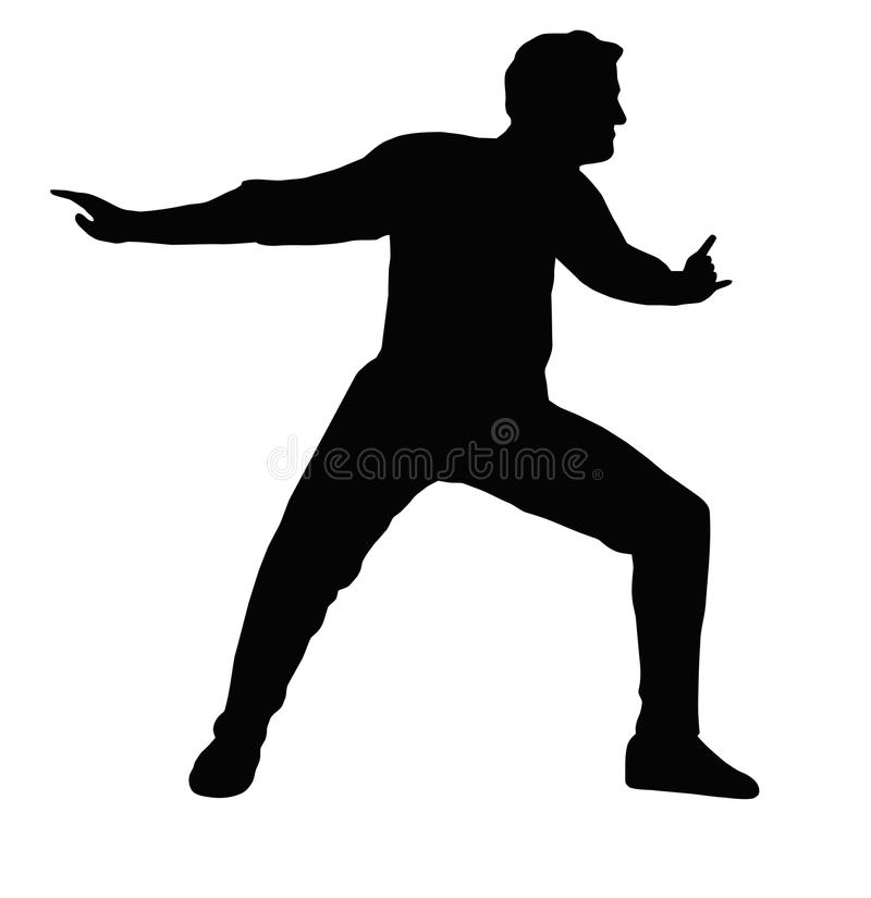 Dancing Boy Arms to Back stock photo