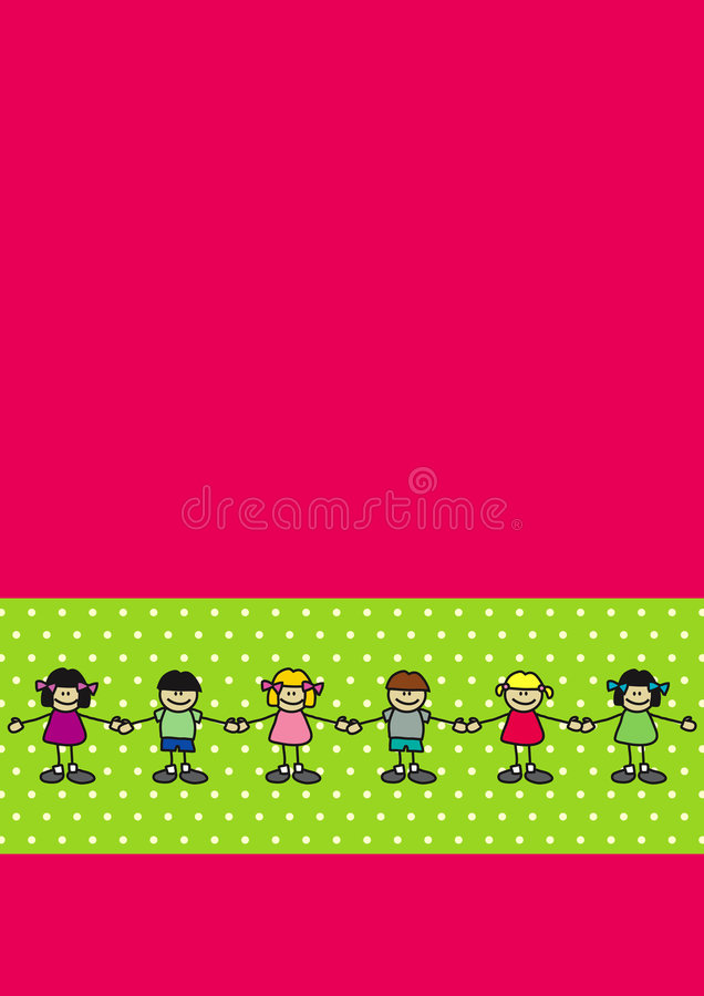 Dancing boys and girls royalty free stock photography