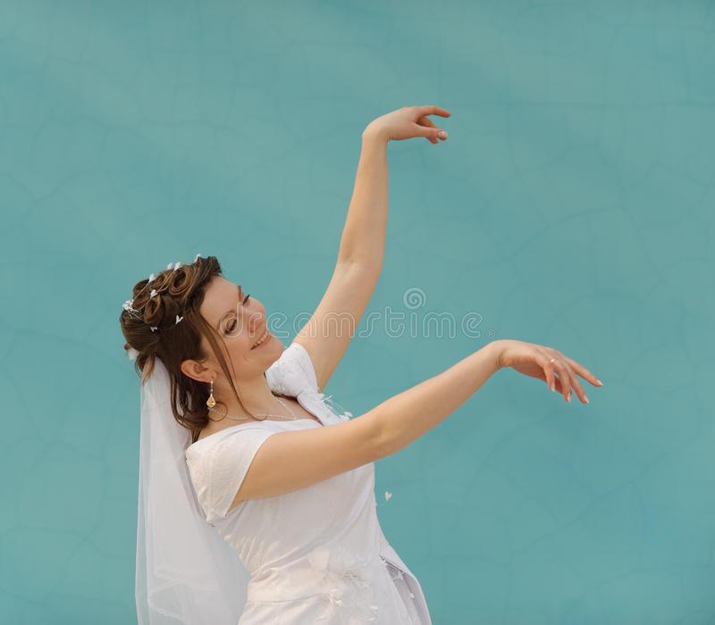 The dancing bride stock images