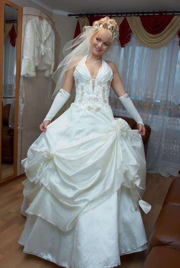 Dancing bride royalty free stock photo