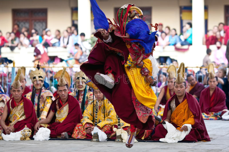 Dancing Buddhists Lama Editorial Stock Photo