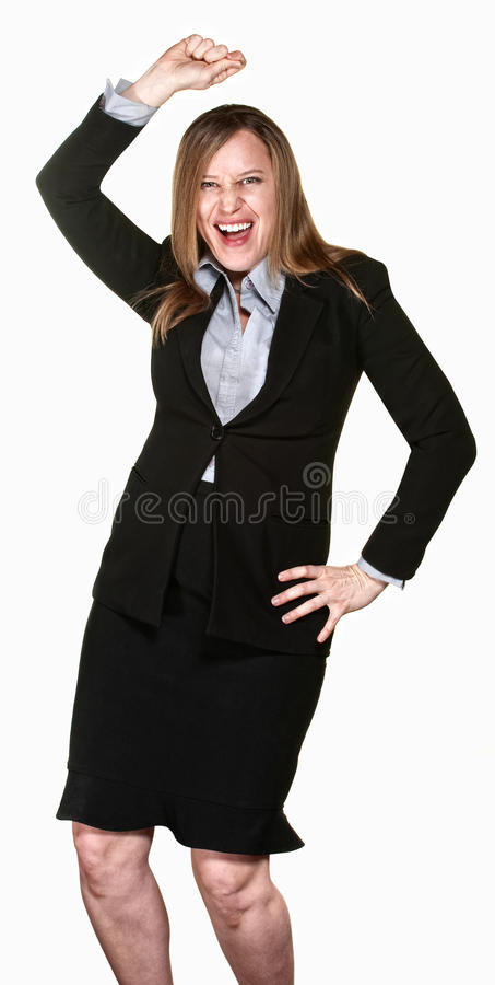 Dancing Business Lady stock images