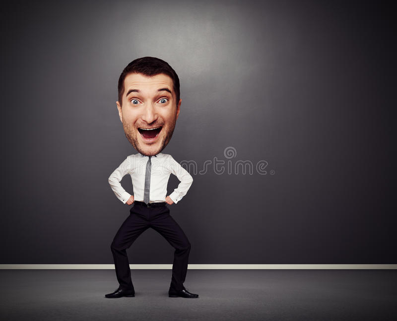 Download Dancing Businessman With Big Head Stock Photo - Image: 30960402