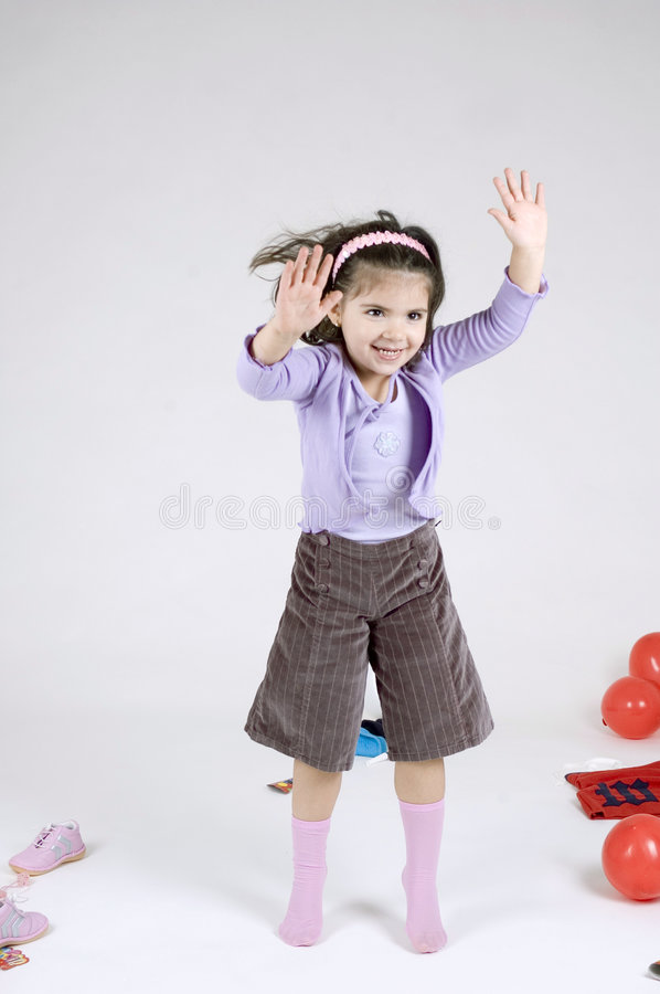 Dancing child stock image
