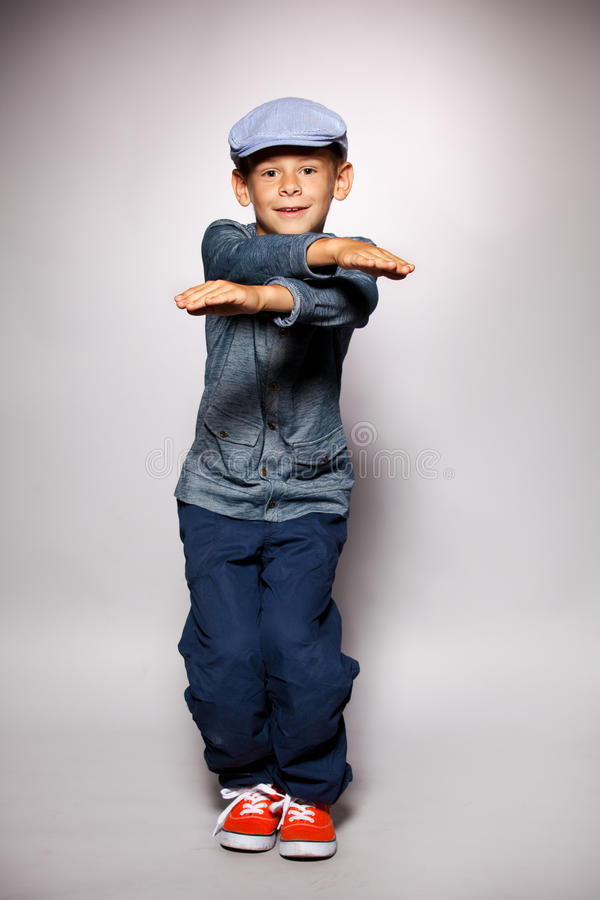 Dancing boy royalty free stock photos