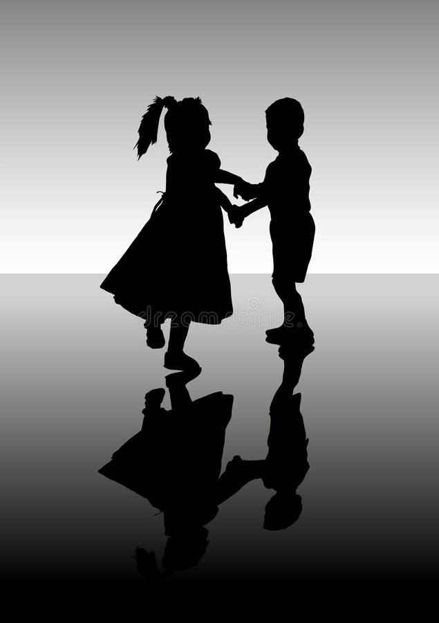 Dancing children. stock illustration