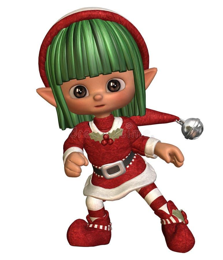Dancing christmas elf royalty free illustration