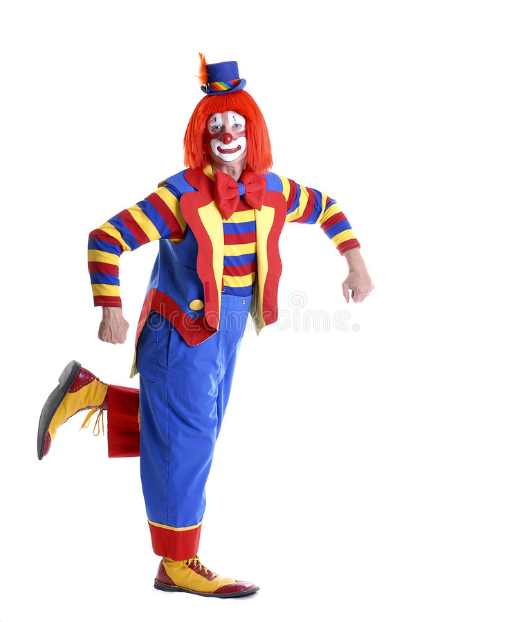 Dancing Circus Clown stock images