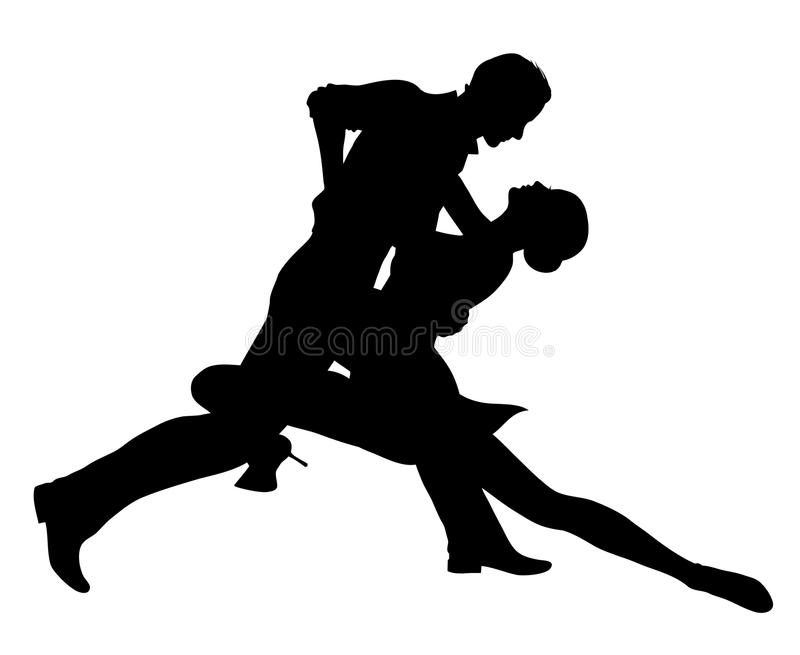 Dancing couple vector illustration