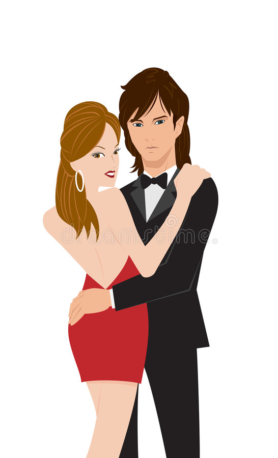 Dancing Couple royalty free illustration