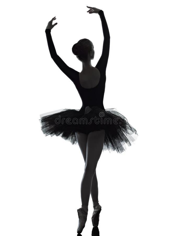 Dancing del danzatore di balletto della ballerina della giovane donna fotografia stock libera da diritti