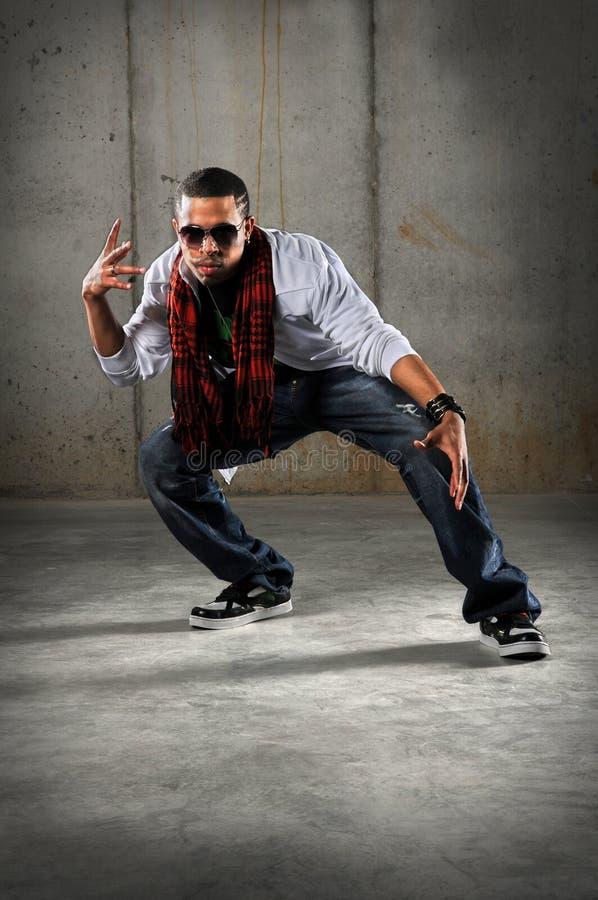 Dancing dell'uomo di Hip Hop fotografia stock libera da diritti