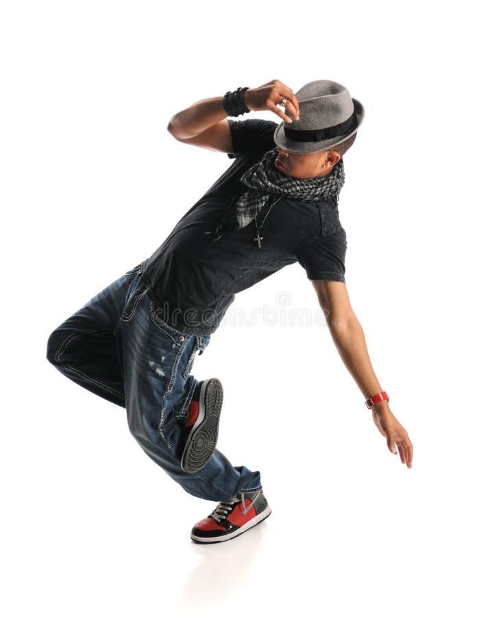Dancing dell'uomo di Hip Hop immagine stock