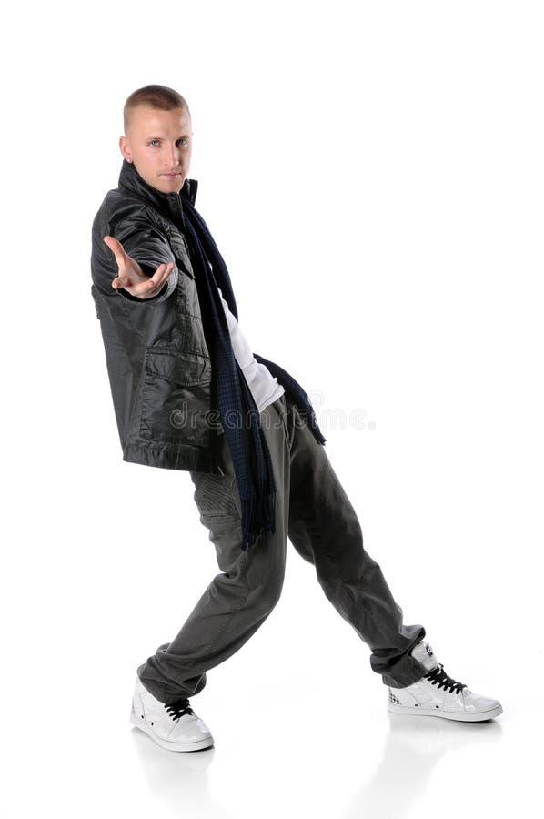 Dancing dell'uomo di Hip Hop fotografia stock