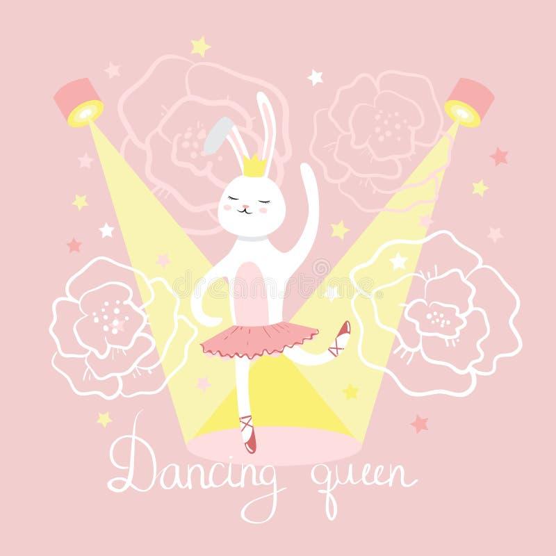 Dancing della ballerina della lepre royalty illustrazione gratis