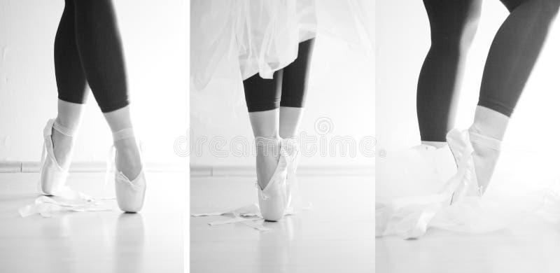 Dancing Della Ballerina Sulle Sue Punte Fotografia Stock