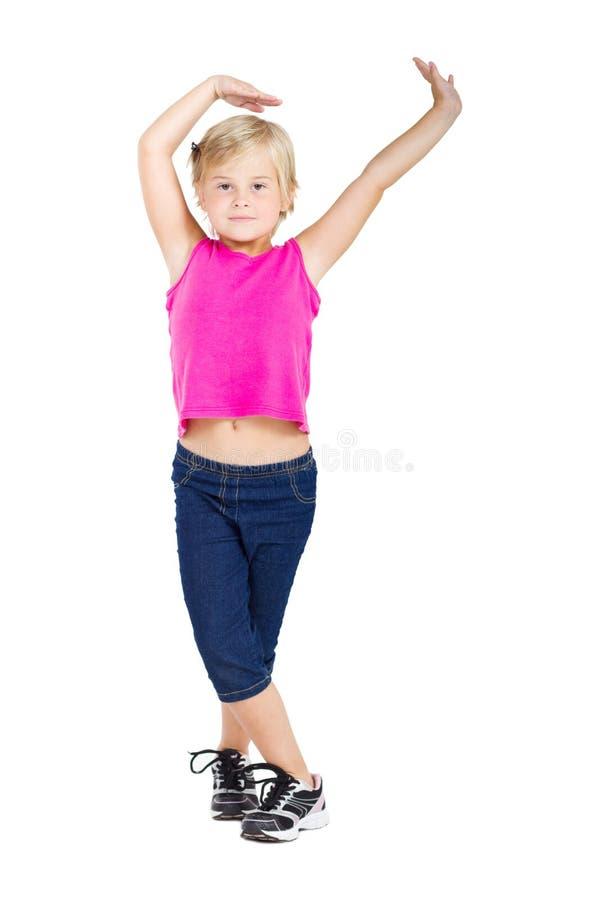 Dancing della bambina fotografia stock libera da diritti
