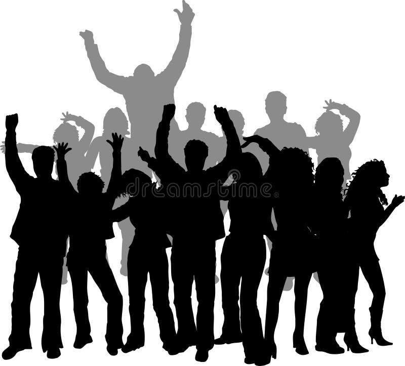 Dancing della discoteca illustrazione vettoriale