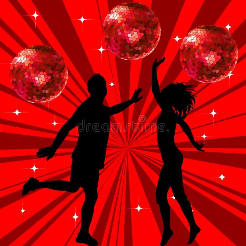 Dancing della donna e dell'uomo royalty illustrazione gratis