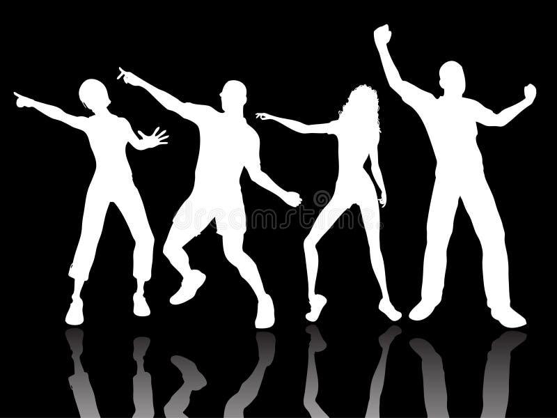 Dancing della gente illustrazione vettoriale