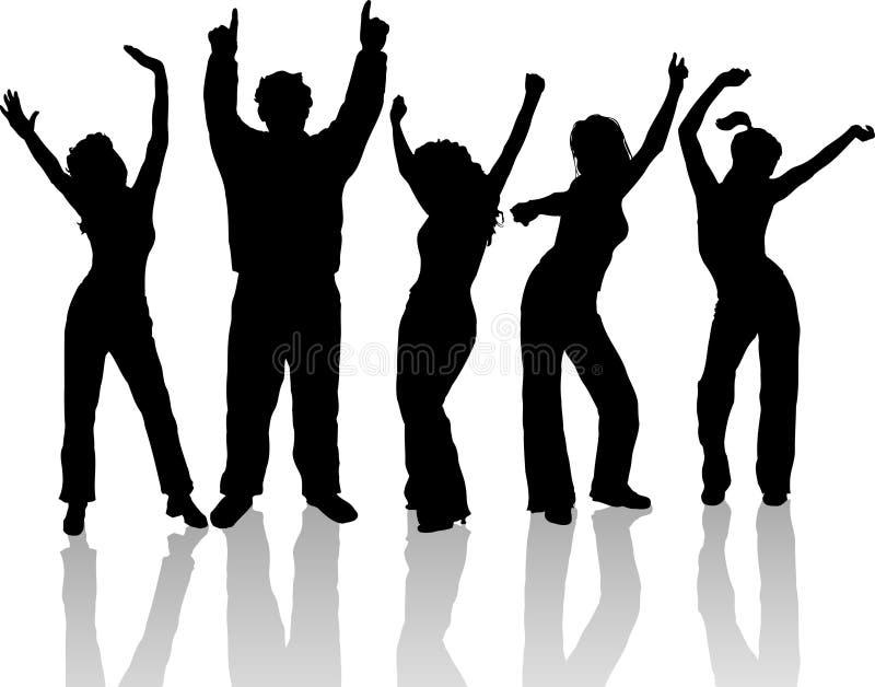 Dancing della gente royalty illustrazione gratis