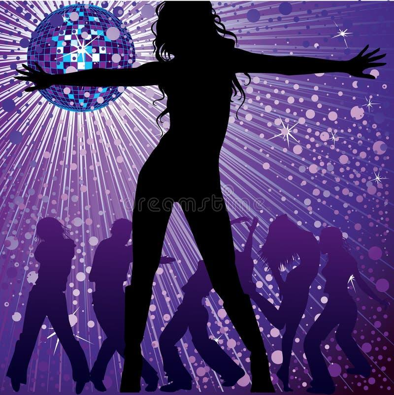 Dancing della gente nel locale notturno illustrazione vettoriale