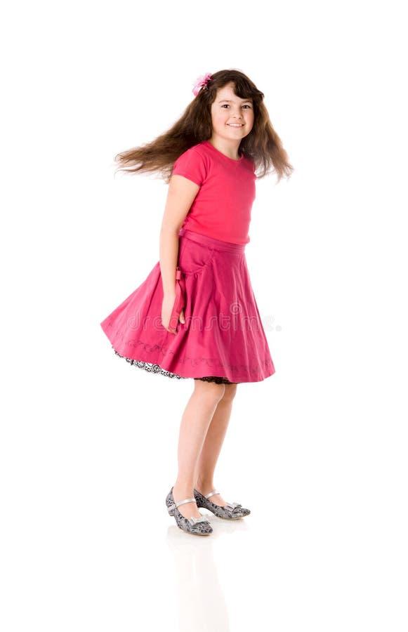 Dancing della ragazza fotografia stock libera da diritti