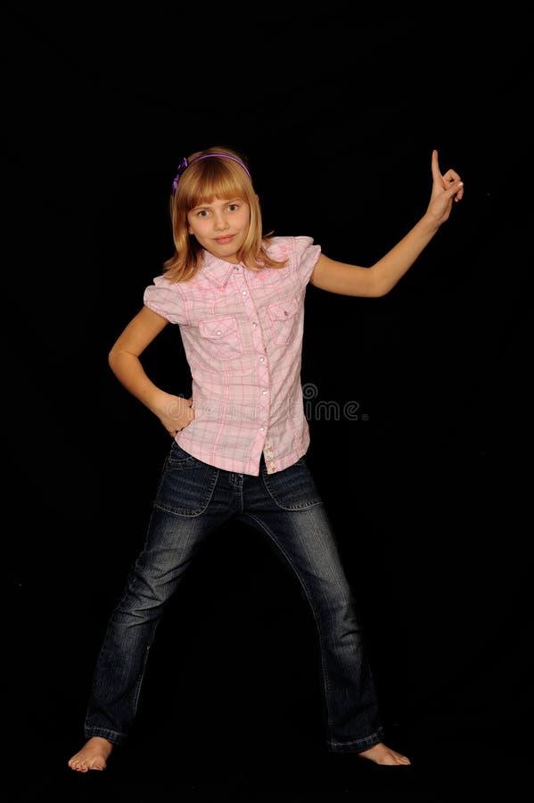 Dancing della ragazza immagine stock