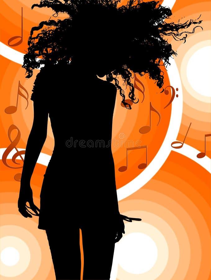 Dancing della ragazza royalty illustrazione gratis