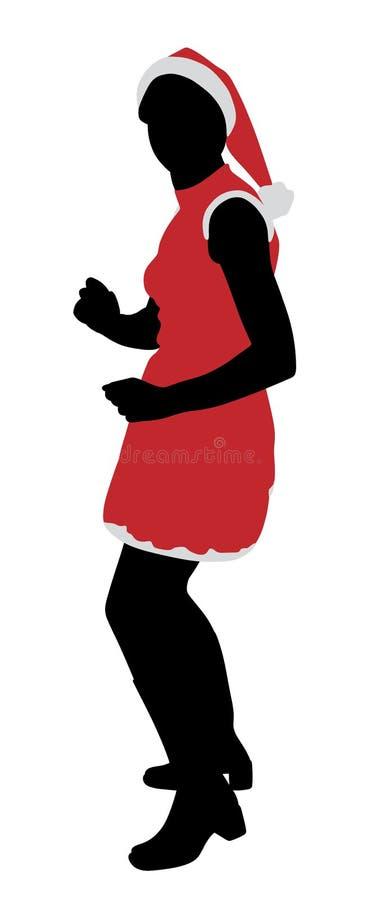 Dancing della ragazza di Santa royalty illustrazione gratis